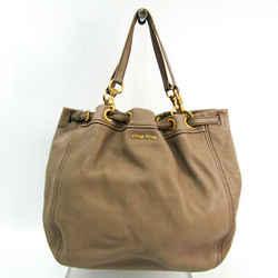 Miu Miu Women's Leather Tote Bag Grayish BF519632