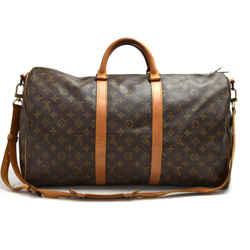 Vintage Louis Vuitton Keepall 50 Bandouliere Monogram Canvas Travel Bag + Strap LT888