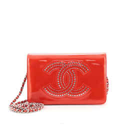 CC Wallet on Chain Strass Embellished Patent