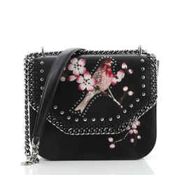 Falabella Box Shoulder Bag Embroidered Studded Faux Leather Small