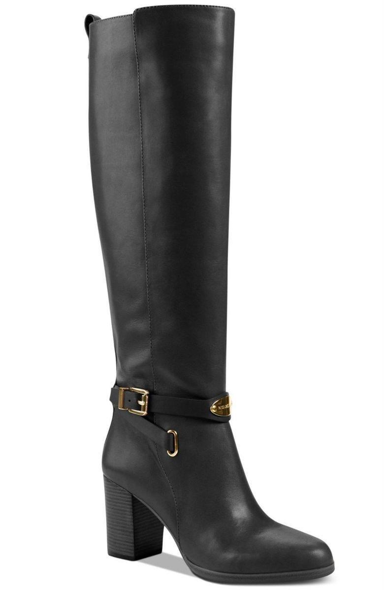 Black Leather Boots Sz 5 New $350 Logo