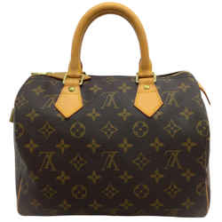 Louis Vuitton Speedy 25 Brown Monogram Canvas Handle Bag