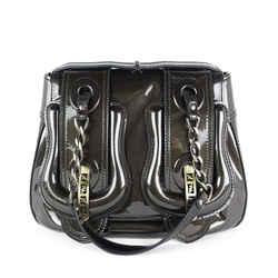 Fendi  Double B Buckle Patent Leather Shoulder Bag