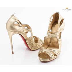 Christian Louboutin Kasia Metallic Red Sole Sandal