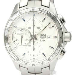 Polished TAG HEUER Link Calibre 16 Chronograph Automatic Watch CAT2011 BF526550