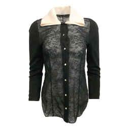 Thom Browne Black Lace Blouse