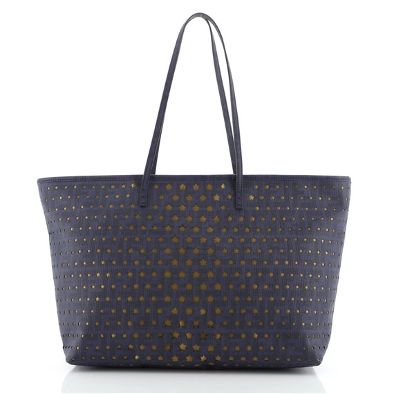 Roll Tote Star Laser Cut Leather Large