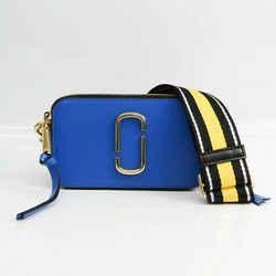 Marc Jacobs Snapshot M0012007 Women's Leather Shoulder Bag Black,Blue,L BF522894