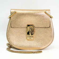 Chloe Drew Mini Women's Leather Shoulder Bag Gold BF521826