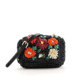 Miss Kate Crossbody Bag Embellished Raffia Mini