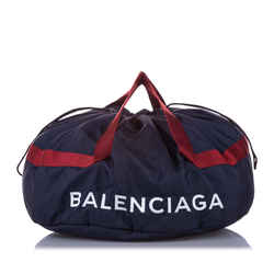 Blue Balenciaga S Wheel Everyday Nylon Travel Bag