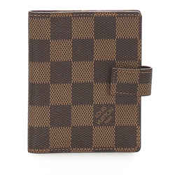 Vintage Authentic Louis Vuitton Brown Damier Ebene Agenda PM France