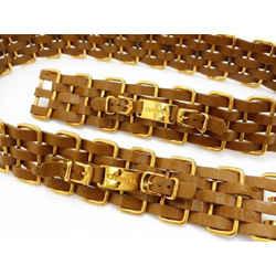 Chanel 5 Layer Interlaced Chain Belt 214583