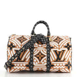 Keepall Bandouliere Bag Limited Edition Crafty Monogram Giant 45