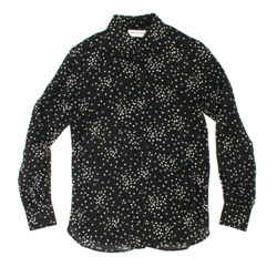 Saint Laurent - 2015 Star Print Shirt Top - Black - Us 2 - 34 - Hedi Slimane