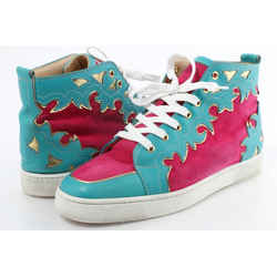 Christian Louboutin Multicolor Suede High-top Sneakers