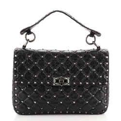 Rockstud Spike Flap Bag Quilted Leather Medium