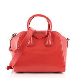 Antigona Bag Glazed Leather Mini