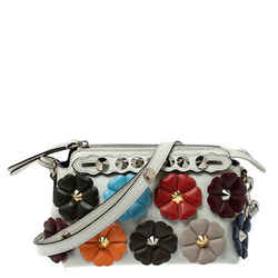 Fendi Multicolor Leather Mini By The Way Flowerland Crossbody Bag