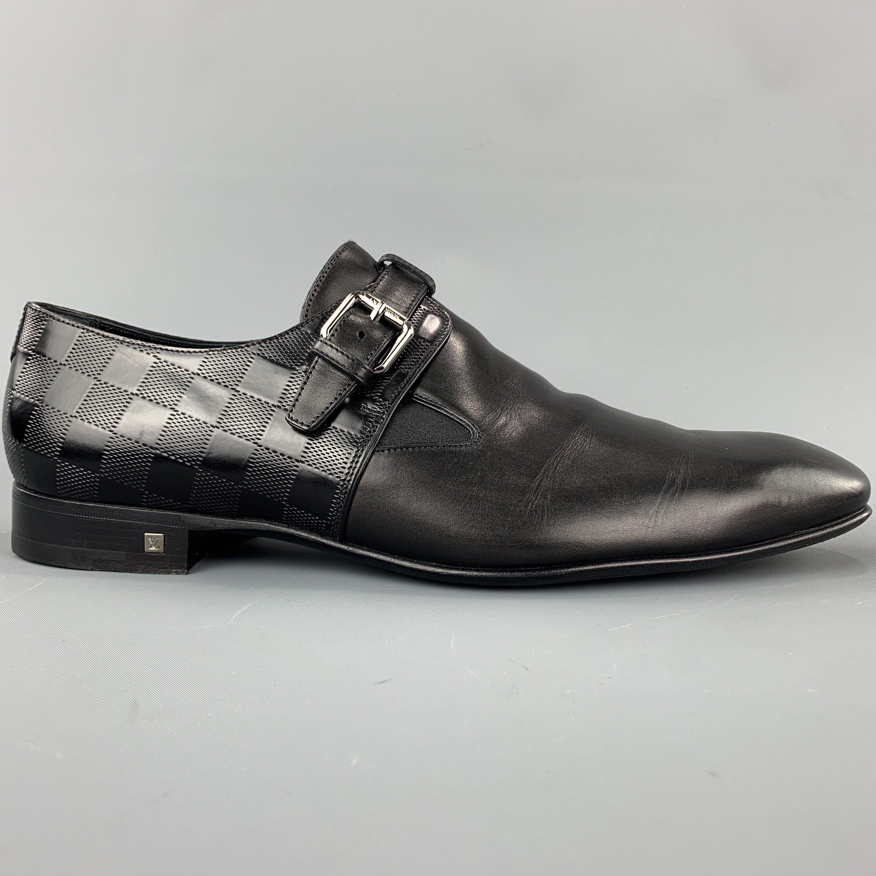 Leather Monk Strap Loafers   LePrix