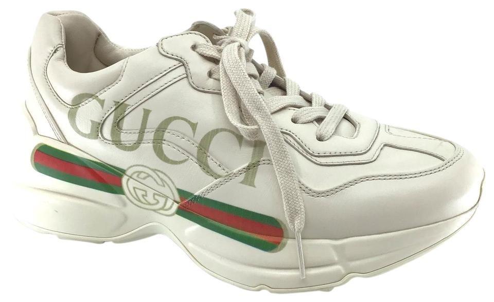 white Vintage Logo Rhyton Sneakers Size