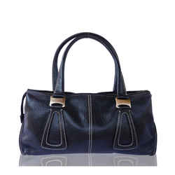 Tod's Black Grained Leather Shoulder Bag