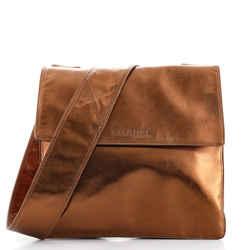 Vintage Flat Crossbody Bag Leather Medium