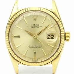Vintage ROLEX Datejust Automatic 14K Gold Watch 1601 Head Only BF522666
