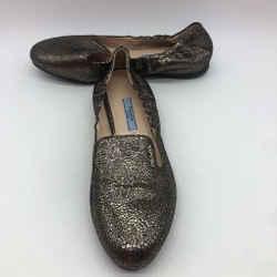 Prada Gold Leather Slip On 7