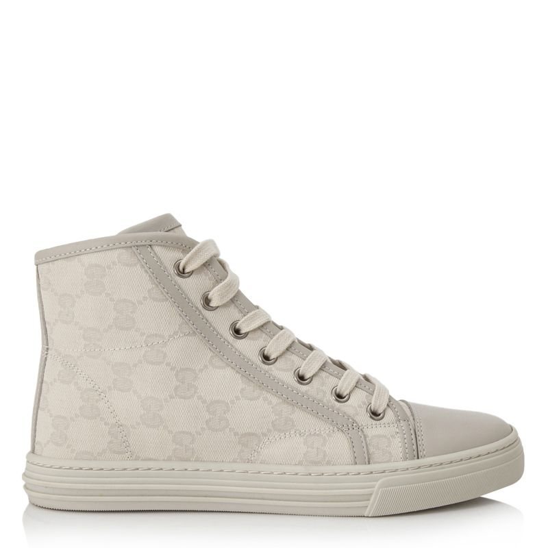 Pre-Owned Gucci GG Cotton Washed Hi Cut
