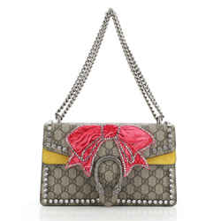 Dionysus Bag Embellished GG Coated Canvas Small