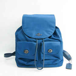 Coach F58814 Women's Leather,Nylon Backpack Dark Blue BF528240