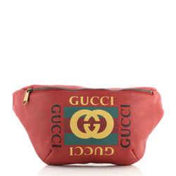 Logo Belt Bag Printed Leather Medium