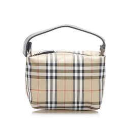 Vintage Authentic Burberry Brown House Check Canvas Handbag United Kingdom