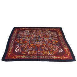 Hermes Scarf Shawl Folklore Cashmere Silk Vintage