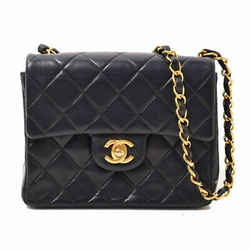 Chanel Auth Lamb Minimatrasse Flap Chain Gold Hardware Leather
