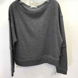 Women's Alice & Olivia Studded Light Weight Sweatshirt. Size L
