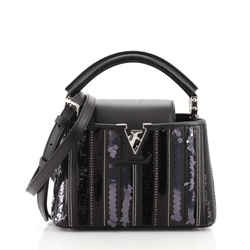 Capucines Bag Sequin and Beaded Leather Mini