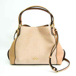 Coach Edy 29473 Women's Leather,Canvas Handbag,Shoulder Bag Beige,White BF518278