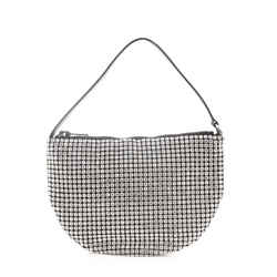 Wangloc Fortune Cookie Bag Rhinestone Embellished Mesh