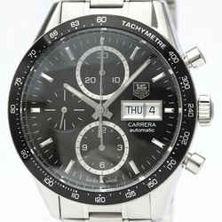 TAG HEUER Carrera Chronograph Caliber 16 Day Date Steel Watch CV201AG BF514640
