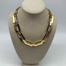 St John Blue Chain Link Necklace