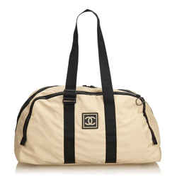 Chanel Extra Large Beige CC Sports Duffle Boston 860281