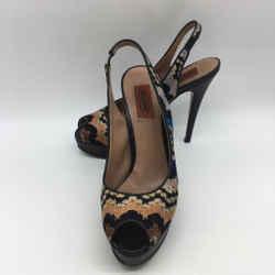 Missoni Black Slingback Heel 8