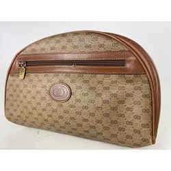 Gucci Micro GG Mini Logo Cosmetic Case Or Clutch Pouch Brown Monogram 17ga530