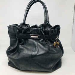 Lanvin Black Leather Kentucky Sac Tote Bag  Silve Hardware Nwt - 1008-81-62719