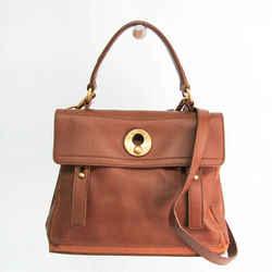 Yves Saint Laurent Muse Two Mini 289278 Women's Leather,Canvas Handbag, BF530531