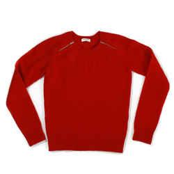 Saint Laurent - New - Red Knit Zipper Sweater - Hedi Slimane Us Xs - Extra Small