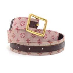 Louis Vuitton Cerise Red Monogram Mini Lin Belt Lp267