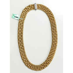 Roberto Coin Appassionata 18kt 3 Row Necklace With Diamond Clasp